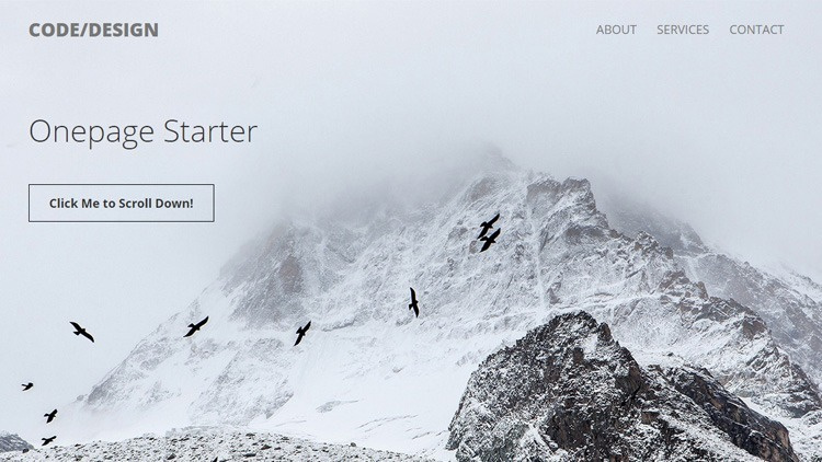 One Page Starter (html, bootstrap)