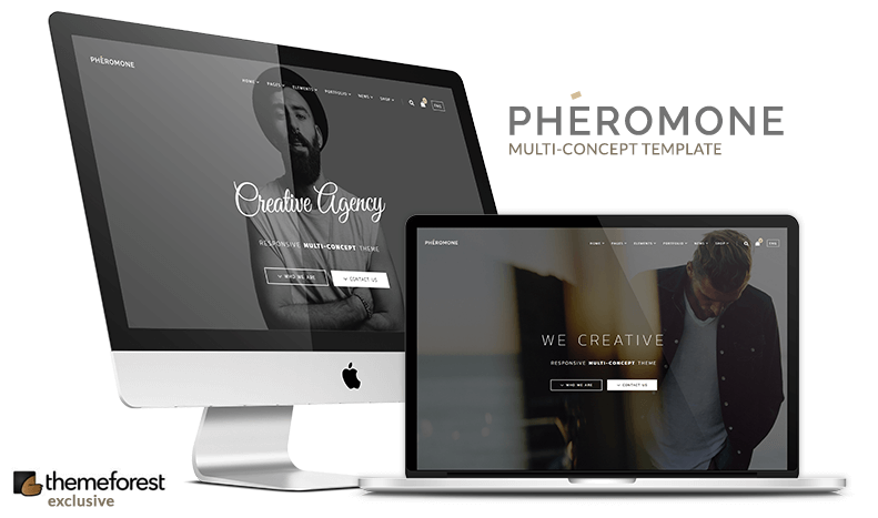 Pheromone is a unique multipurpose, responsive, multi and one page bootstrap html template for building simple and beautiful business or personal website. Amazing solution for portfolio websites which you can fit for freelancers, photographers or agency showcase. Made for developers, designers, bloggers and creative people.